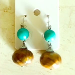 Jewelry - ✨ Turquoise & Brown Earrings